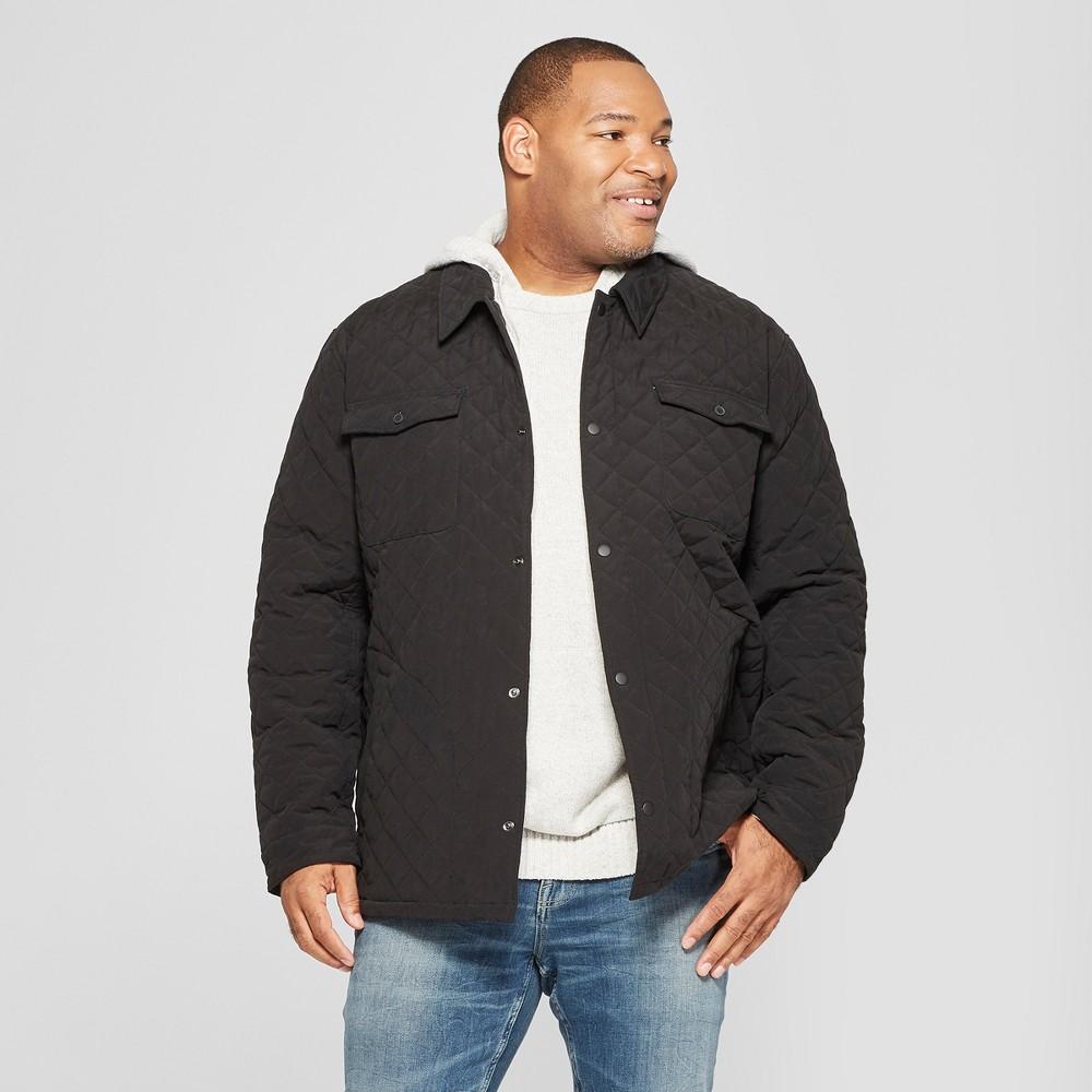 Men's Big & Tall Quilted Shirt Jacket - Goodfellow & Co Black 3XBT