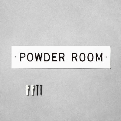 Small 'Powder Room' Wall Sign White/Black - Hearth & Hand™ with Magnolia