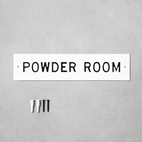 Small 'Powder Room' Wall Sign White/Black - Hearth & Hand™ with Magnolia - image 1 of 2