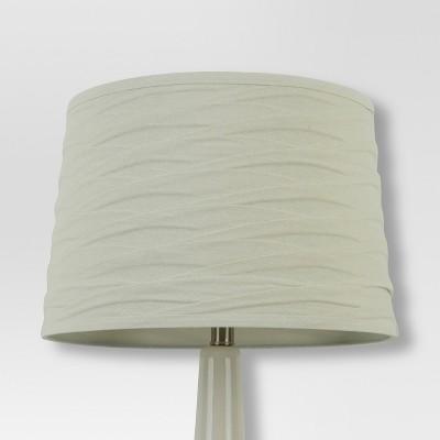 Linen Overlay Lamp Shade Cream Large - Threshold™