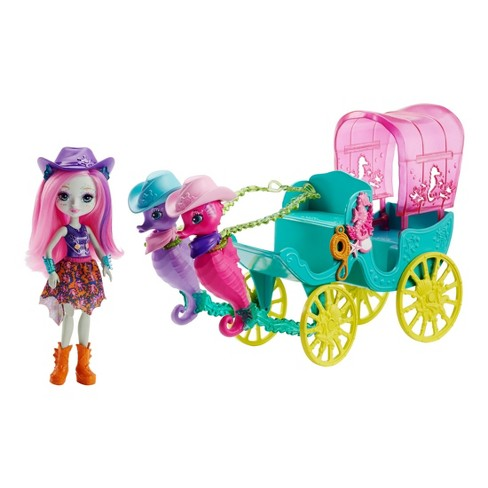 Enchantimals Seahorse Carriage Sandella Seahorse Doll and Playset - image 1 of 11