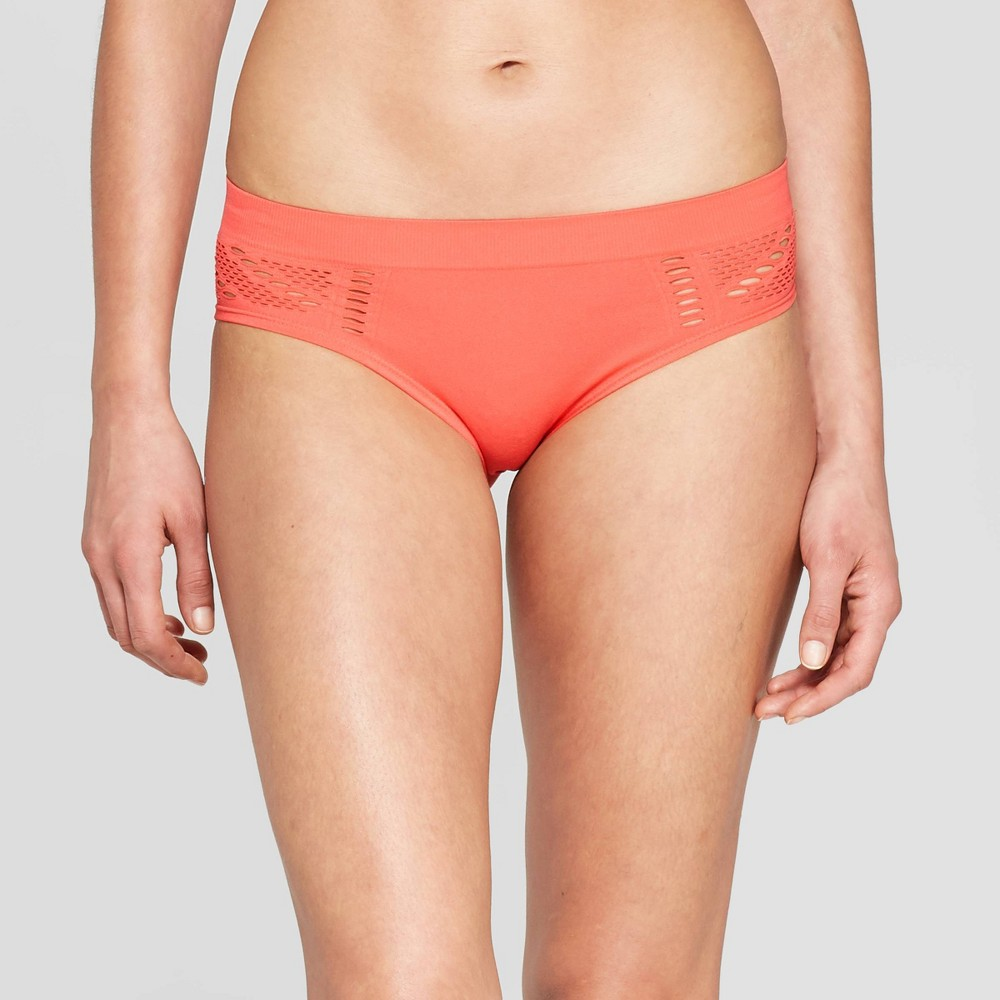 b8047e862ba6 Womens Seamless Bikini with Mesh Auden Cabana Orange L