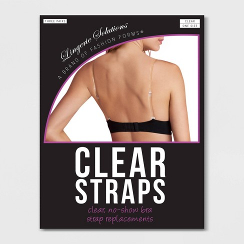 Fashion Forms Women's Clear Bra Straps - 3 Pack - image 1 of 2