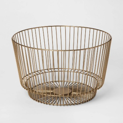 "18"" x 11"" Decorative Wire Basket Gold - Project 62™"