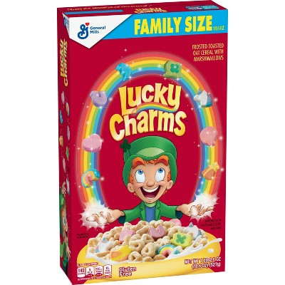 General Mills Family Size Lucky Charms Cereal - 18.6oz