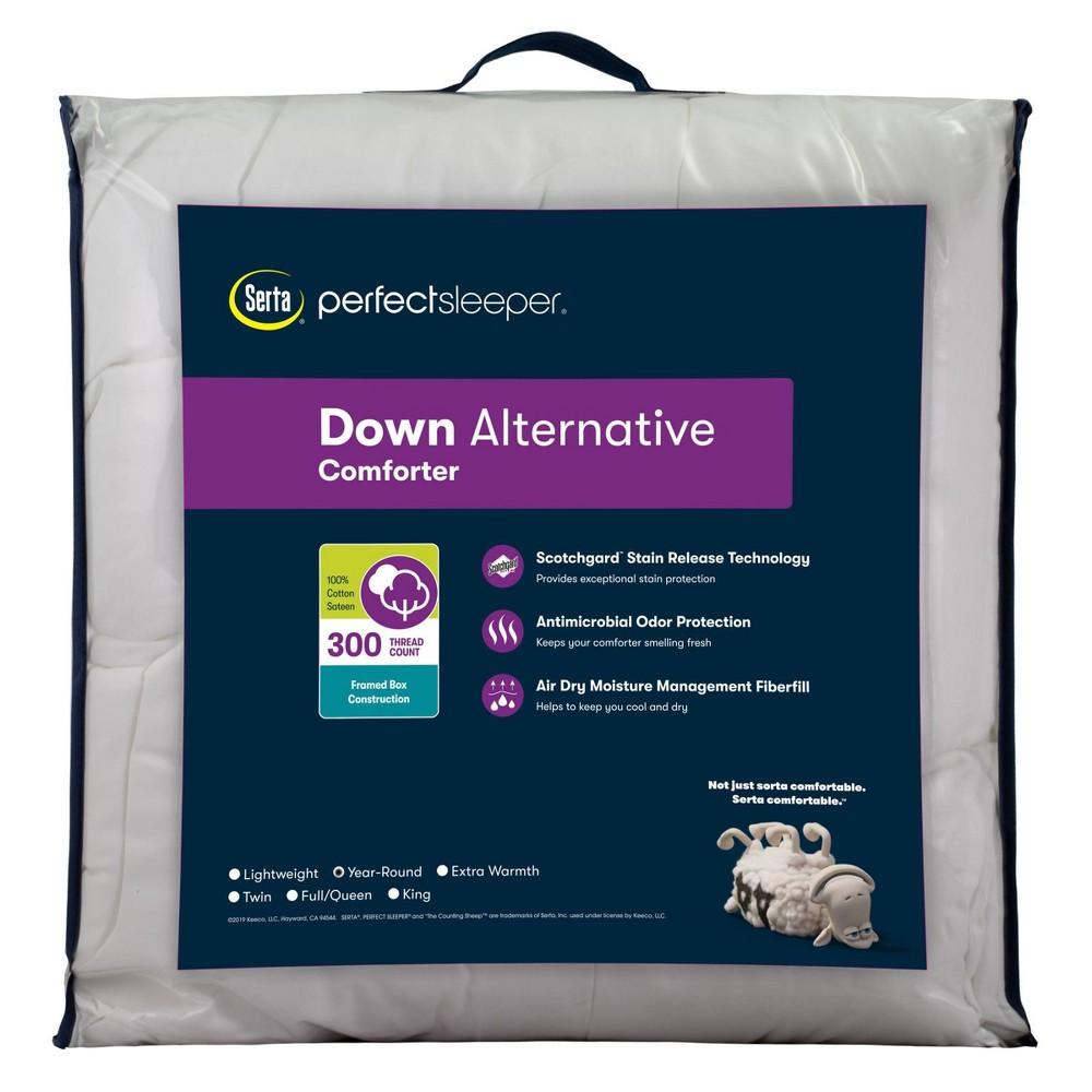 Twin 300 Thread Count Year Round Down Alternative Comforter Serta