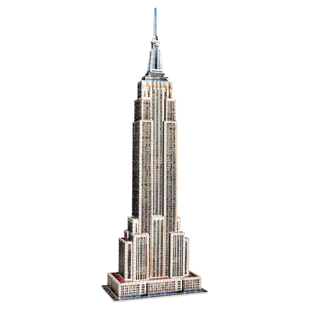 Wrebbit 3D - 2007 Empire State Building 3D Puzzle 975pc One of America's most famous icons, The Empire State Building was built in the 1930s in just 410 days. Standing 1,453 feet high, it was the first building with more than 100 floors and 73 elevators. Relive the building experience with our 975 pieces, 41 inch 3D puzzle. Three dimensional Puzzle of the Iconic Historic New York landmark Empire State Building. The Full color foam backed puzzle consists of 975 pieces.. Kink Kong is not included! Age - 12 and up. Puzzle dimensions - 13.39 x 8.27 x 40.94 inches. Warning: Choking Hazard - Small parts. Not for children under 3 yrs. Gender: Unisex.