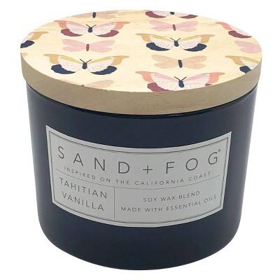 12oz Tahitian Vanilla Scented Candle - Sand + Fog