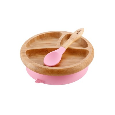 Avanchy Bamboo Baby Plate - Pink