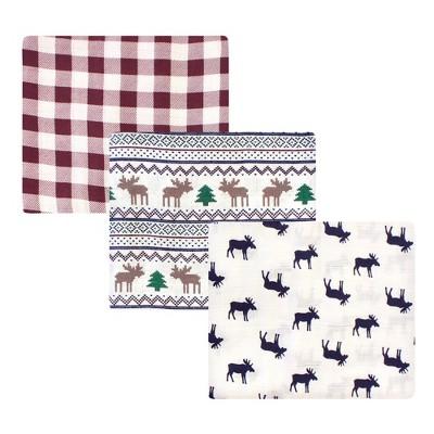 Little Treasure Baby Boy Cotton Muslin Swaddle Blankets, Moose Sweater, One Size