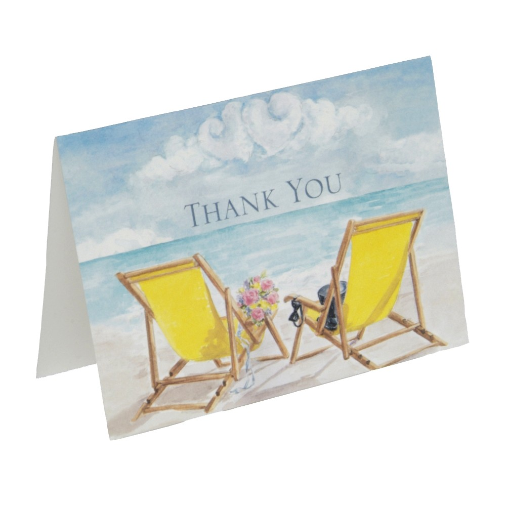 Seaside Jewels Wedding Thank You Cards (50ct), Multi-Colored