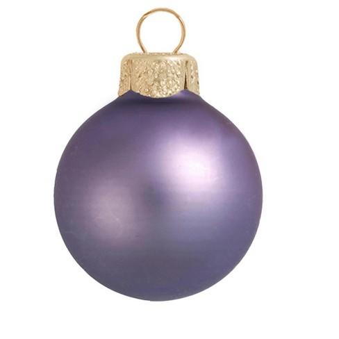 "Northlight 2ct Matte Glass Ball Christmas Ornament Set 6"" - Lilac Purple - image 1 of 1"