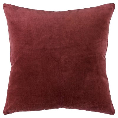 """22""""x22"""" Oversize Square Throw Pillow Cover Rust - Rizzy Home"""