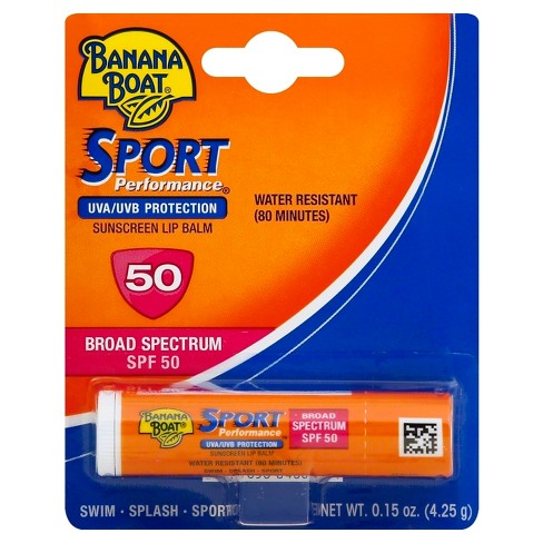 Banana Boat Sport Performance Sunscreen  Lip Balm - SPF 50 - .15oz - image 1 of 2