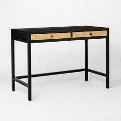 Springville Writing Desk with Drawers Black - Threshold™ designed with Studio McGee