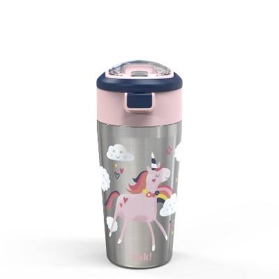 Zak Designs Unique Unicorn Straw Bottle - 12oz