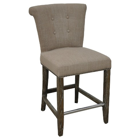 "Vincente 24"" Counter Stool Wood/Buff Beige - image 1 of 2"