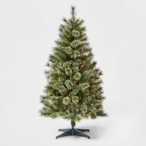 4.5ft Pre-lit Artificial Christmas Tree Virginia Pine Clear Lights - Wondershop™ - image 1 of 4