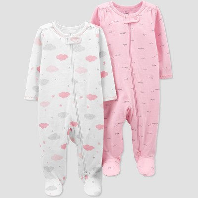 Baby Girls' 2pk Sleep N' Play - Just One You® made by carter's Pink Newborn