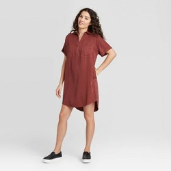 Women's Short Sleeve Shirtdress - Universal Thread™