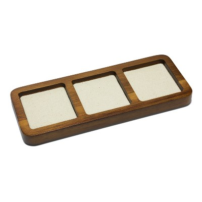 Olive/Brown Small Acacia Wood With Canvas Valet Tray - Goodfellow & Co™