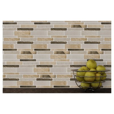 Decor 5 Pack Peel & Stick Mosaic Tile - Golden Dream Linear