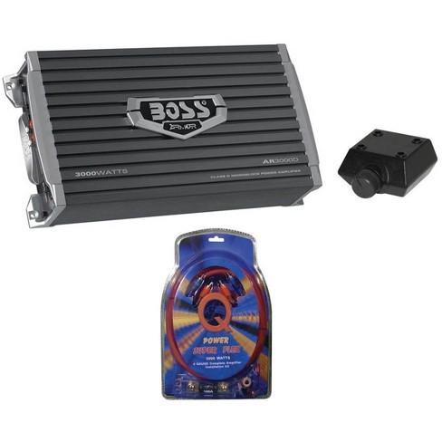 New Boss Audio Armor AR3000D 3000W Car Amplifier Amp + 4 Gauge Amp Install Kit - image 1 of 4