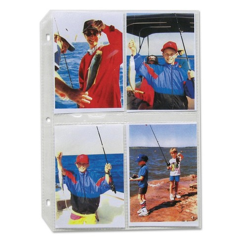 C-Line Clear Photo Pages for 8 3-1/2 x 5 Photos 3-Hole Punched 11-1/4 x 8-1/8 52584 - image 1 of 4
