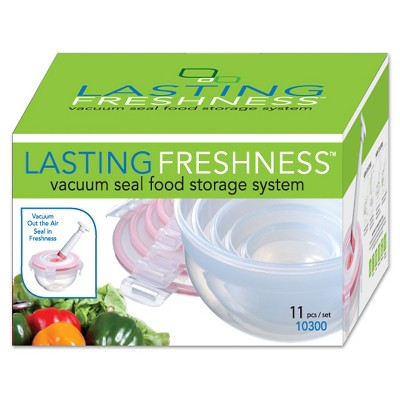 Lasting Freshness Vacuum Seal Food Storage System Set Bowl 11pc