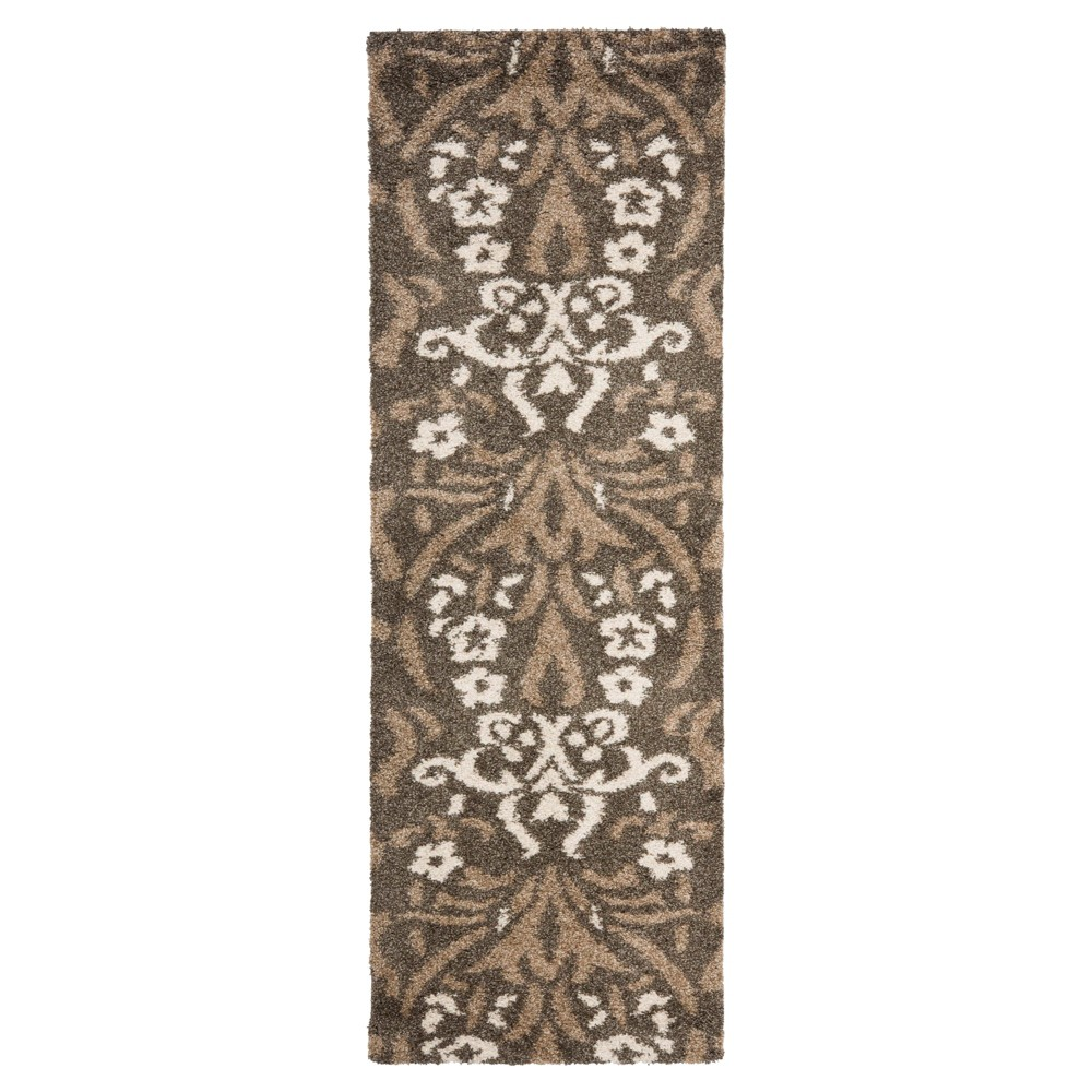 Smoke/Beige (Grey/Beige) Abstract Woven Runner - (2'3X9' Runner) - Safavieh