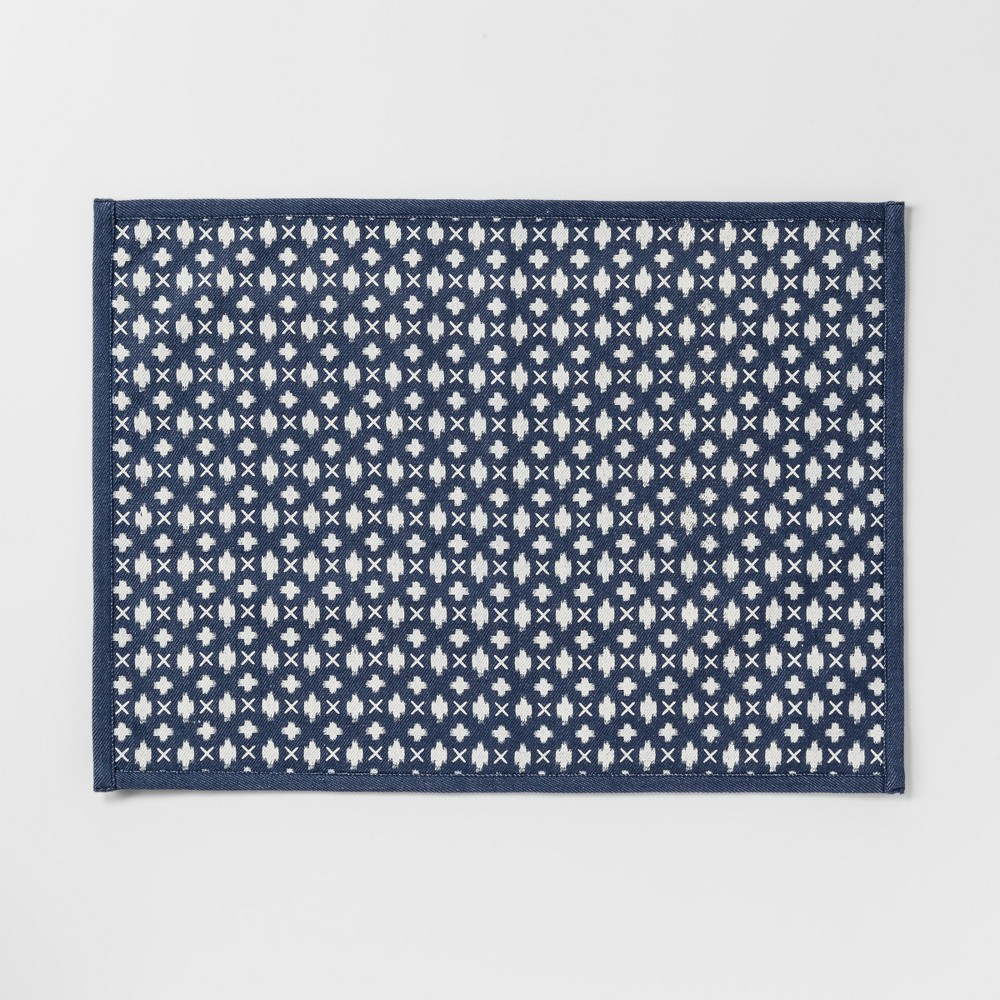 Cross Placemat Blue - Threshold