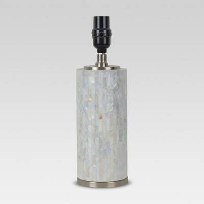 Capiz Subway Tile Small Lamp Base Shell Lamp Only - Threshold™