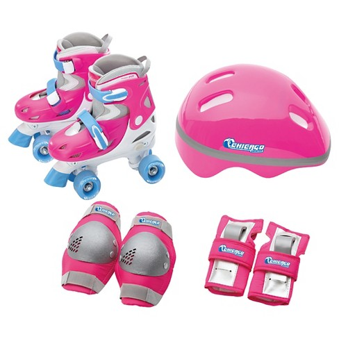 Chicago Skate Girls Adjustable Quad Skate Combo - Pink (J10-J13) - image 1 of 2