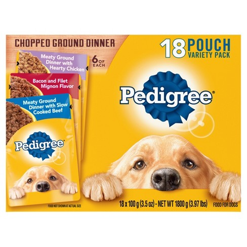 Pedigree Filet & Bacon, Slow Cooked Beef and Hearty Chicken Variety Pack Wet Dog Food - 18ct - image 1 of 4