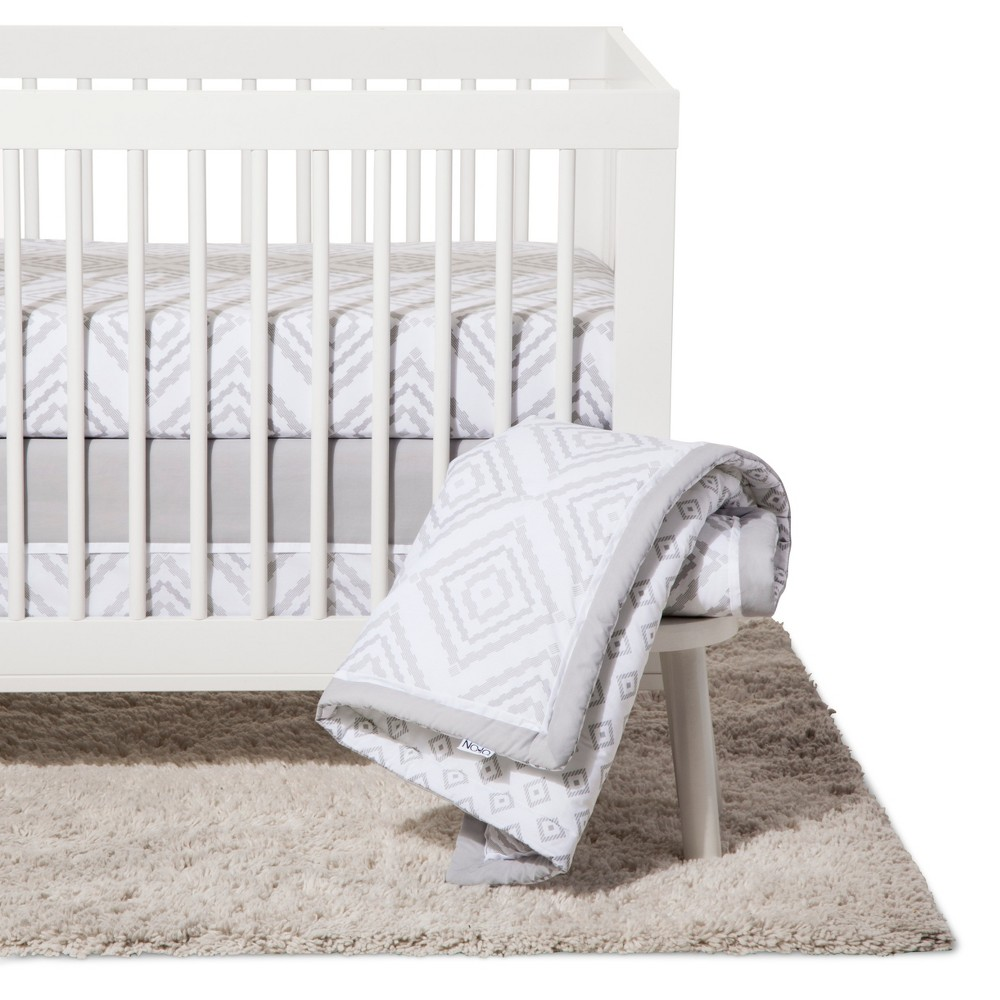 Image of NoJo Crib Bedding Set 8pc - Dreamer - Gray
