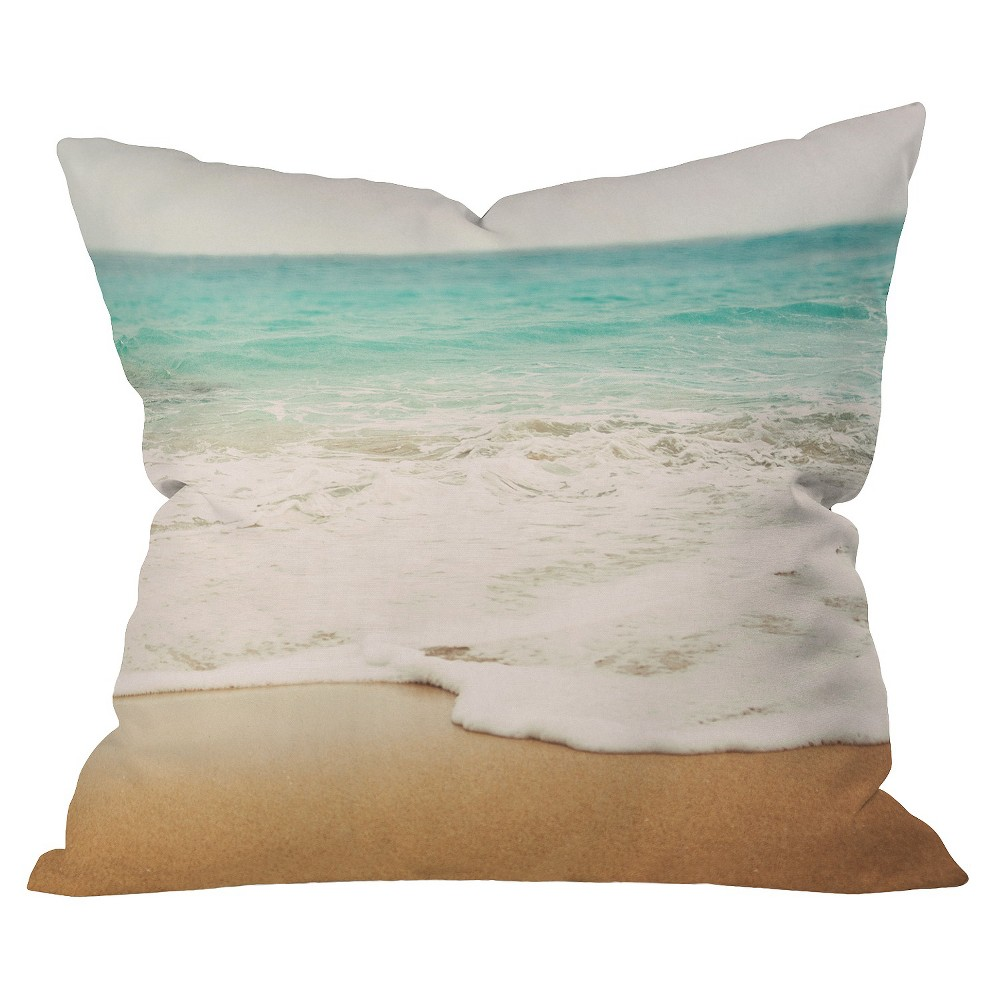 Sand (Brown) Ombre Beach Throw Pillow - Deny Designs