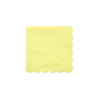 Meri Meri Pale Yellow Small Napkins