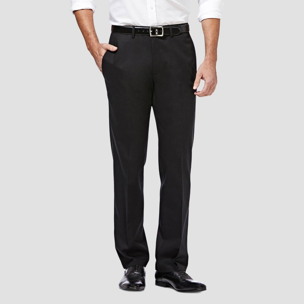 Promos Haggar Men's Premium No Iron Straight Fit Flat Front Casual Pants -