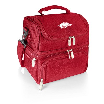 NCAA Arkansas Razorbacks Pranzo Dual Compartment Lunch Bag - Red