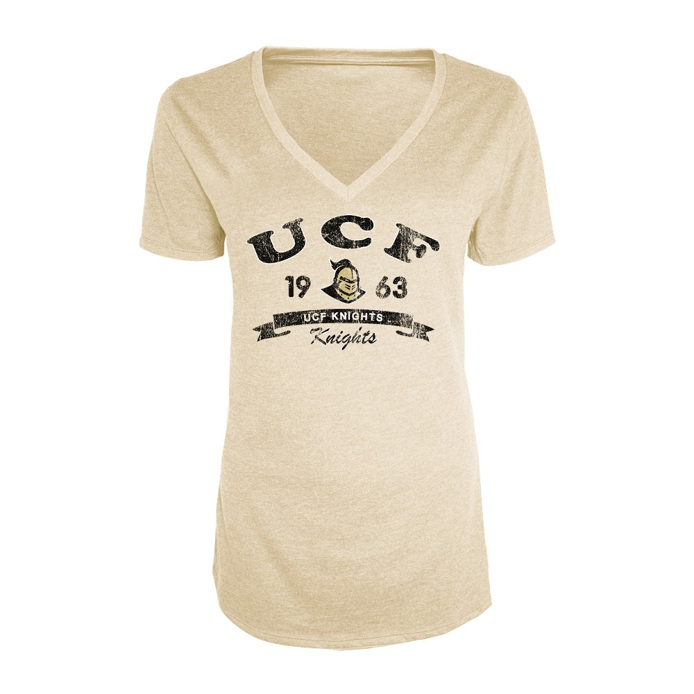 Ucf Knights Women's Short Sleeve Heathered V-Neck T-Shirt - XL, Multicolored