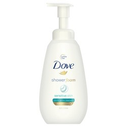 Dove Sensitive Skin Shower Foam - 13.5oz