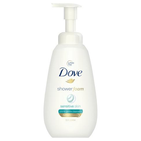 Dove Sensitive Skin Unscented Sulfate-Free Shower Foam Body Wash - 13.5 fl oz - image 1 of 4