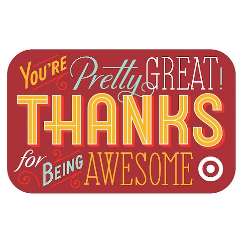 Thanks For Being Awesome GiftCard - image 1 of 1