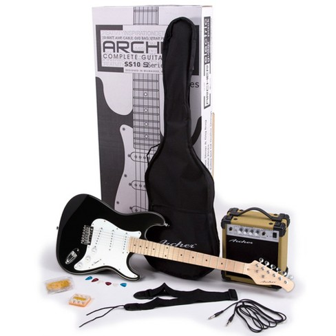 Archer SS10 Electric Guitar Package - Black - image 1 of 1