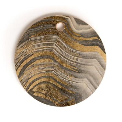 Marta Barragan Camarasa Abstract Paint Modern Round Cutting Board - Deny Designs