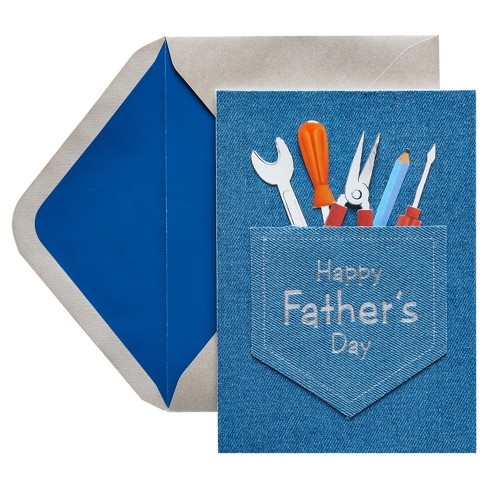 Papyrus Jean Pocket and Tools Father's Day Card with Foil - image 1 of 1