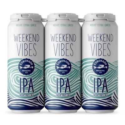 Coronado Weekend Vibes IPA Beer - 6pk/16 fl oz Cans