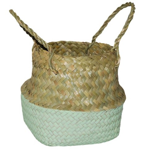 "8.85""x8"" Decorative Pop Up Belly Basket Natural Mint - Opalhouse™ - image 1 of 3"