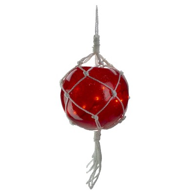 """Barcana 20ct Red Roped Light Ball Outdoor Christmas Decoration 11.5"""""""