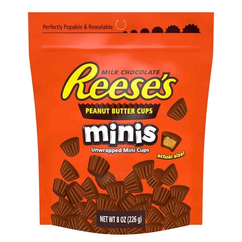 Reese's Peanut Butter Cups Minis Milk Chocolate - 8oz - image 1 of 5